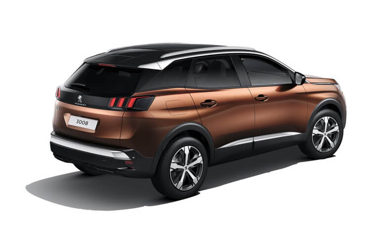 Peugeot 3008 SUV HYBRID 1.6 PHEV 13.2kWh 225PS Allure Premium 5Dr e-EAT [Start Stop] back view