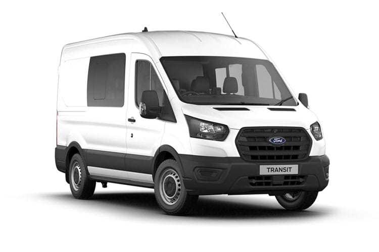 Ford Transit 350 L3 2.0 EcoBlue FWD 130PS Limited Crew Van Medium Roof Auto [Start Stop] [DCiV] front view